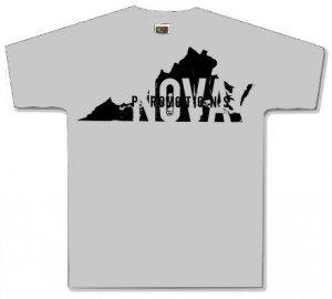 Virginia Gray Shirt Size LARGE