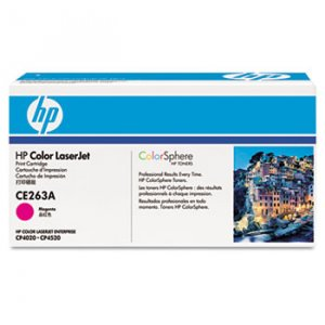 HP CE263A, Genuine 648A Color LJ CP4025/ CP4525 Series Magenta Toner Cartridge