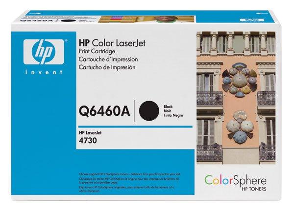 HP Q6460A, Genuine 644A Color LJ 4730/ CM4730 Series Black Toner Cartridge (