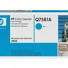 HP Q7581A, Genuine 503A Color LJ3800/ CP3505 Cyan Toner Cartridge