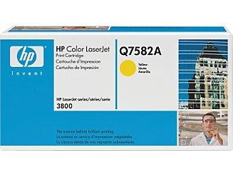 HP Q7582A, Genuine 503A Color LJ 3800/ CP3505 ColorSphere Yellow Toner
