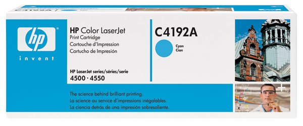 HP C4192A, Genuine 640A Color LJ 4500/ 4550 Cyan Toner Cartridge