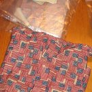 NEW Longaberger Large Gatehouse Basket LINER ONLY Old Glory Flag Fabric Red White Blue