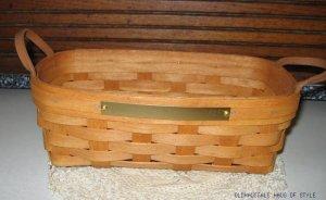 2002 HENN Hand Made Basket Geauga County Fair Ohio Commemorative 1823