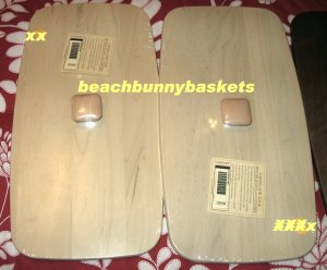 NEW Longaberger Bread/Vanity Basket WOODEN LID Soft White Finish