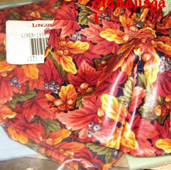 1996 Longaberger Small Pumpkin Basket Fall Foliage Standup LINER ONLY + FREE SHIPPING