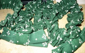 3 Longaberger Heritage Green Basket Garters - 2 Small; 1 Medium - FREE SHIPPING