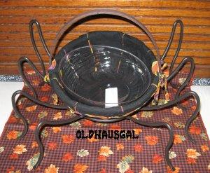 2006 Longaberger Autumn Treats Small Spider Basket Set +Spider Legs Halloween