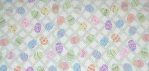 NEW Longaberger Easter Egg Hunt Cotton FABRIC 5 Yards Uncut