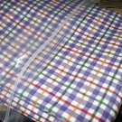 NEW Longaberger Blueberry Plaid Cotton FABRIC 5 Yards Uncut