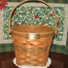 RARE 1988 Longaberger Poinsettia Christmas Collection Basket
