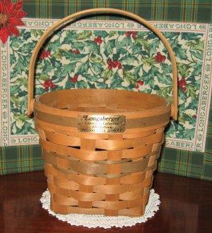 RARE 1988 Longaberger Poinsettia Christmas Collection Basket