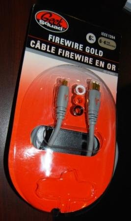 Geek Squad Firewire Cable 6-4 pin 6 Foot GS-6FW64