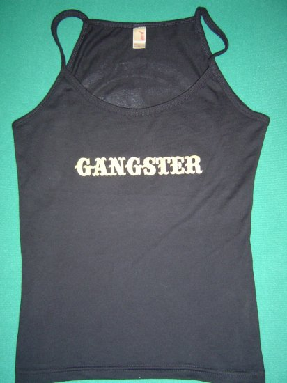 "Women's Gangster Bull ""Teardrop"" Spaghetti Top - MEDIUM"