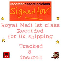 Royal Mail 1st class recorded (for UK shipping)