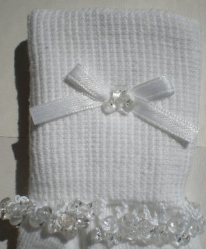 Clear Tri Beads- Embroidered Socks