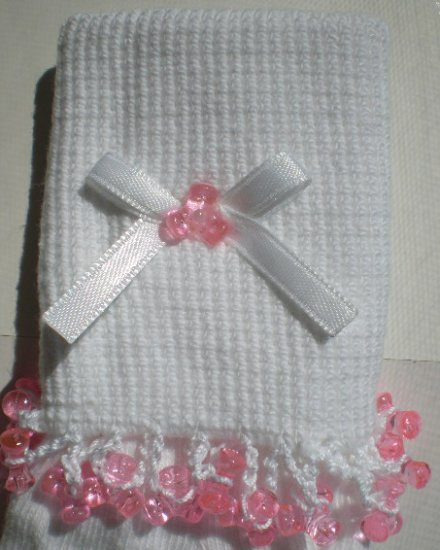 Pink Tri Beads-Embroidered Socks