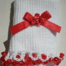 Red Tri Beads-Embroidered Socks