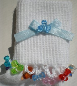 Multi colored Tri Beads-Embroidered Socks