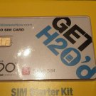 H2O Wireless Nano Sim Card Works Works with / At&T & Unlocked Phones