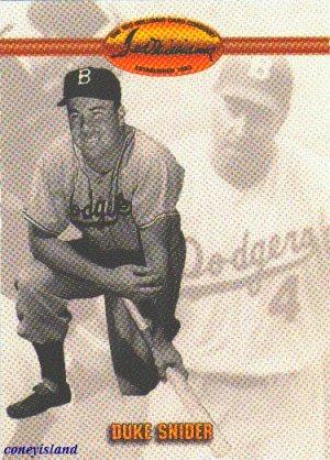 1993 Duke Snider Brooklyn Dodgers TWCC Card 16