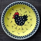 Hand Painted Cartoon Chicken Plate Decor