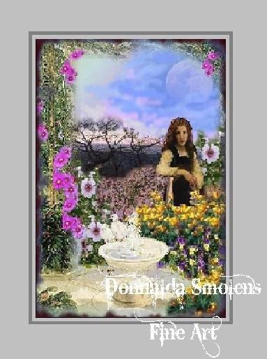 Trellis and Fountain by Donnalda Smolens