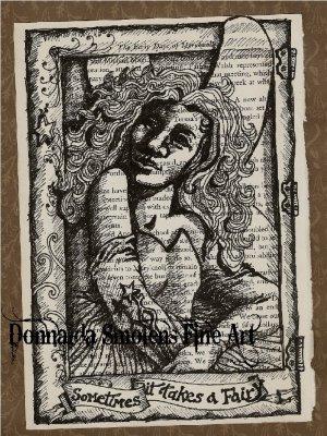Sometimes It Takes A Fairy Print by Donnalda Smolens