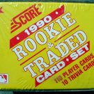 New 1990 Baseball Rookie & Traded card set.