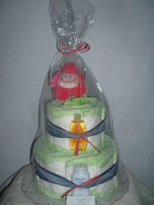 Happy Daisy 2 Tier Diaper Cake