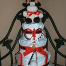 3 Tier Cow Diaper Cake