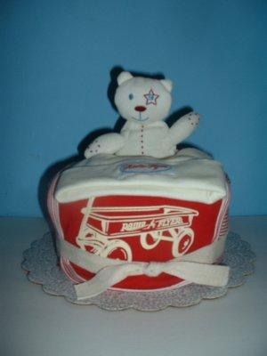 Radio Flyer Diaper Cake