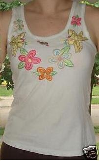 *Free Shipping* Fun Forever 21 Embroidered Tank