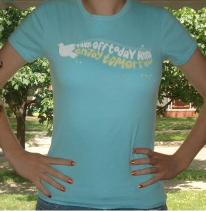 """FREE SHIPPING AMERICAN EAGLE """"Take off Today and Enjoy Tomorrow"""" Shirt"""