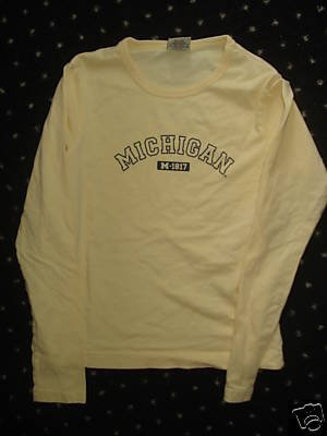 *Free Shipping* UNIVERSITY of MICHIGAN Long Sleeve Shirt Sz Small