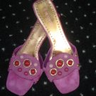 FREE SHIPPING Gorgeous ENZO ANGIOLINI Magenta Sandals 8.5M