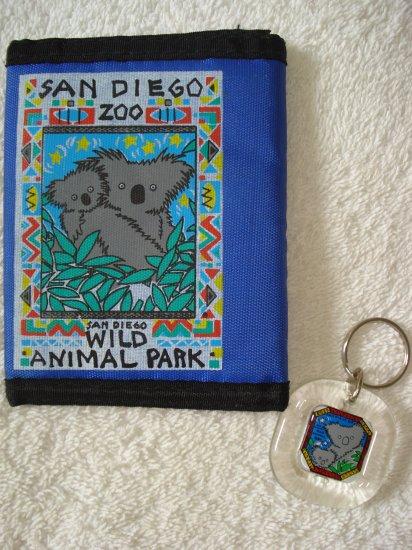 FREE SHIPPING Adorable Koala San Diego Zoo Wallet & Keychain Lot