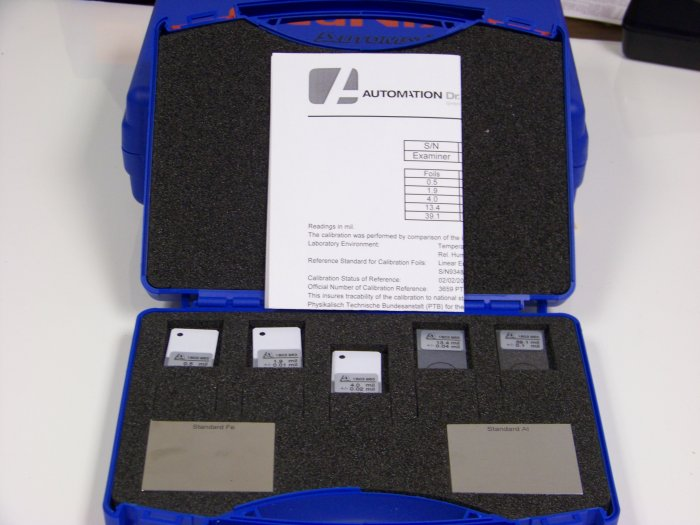Calibration Foil Set (5 pieces), visit: www.testcoat-usa.com or call: 18006784370