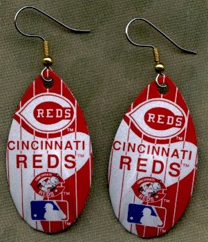 Cincinnati Reds Ear Rings