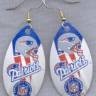 New England Patriots Ear Rings
