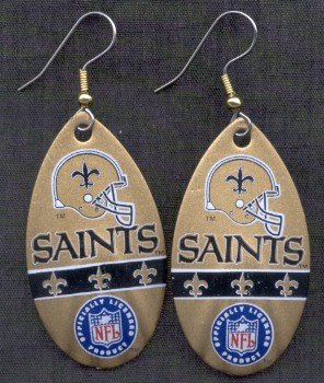 New Orleans Saints Ear Rings