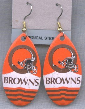 Cleveland Browns Ear Rings