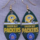Green Bay Packers Ear Rings