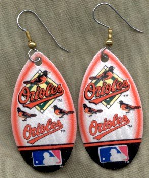 Baltimore Orioles Ear Rings