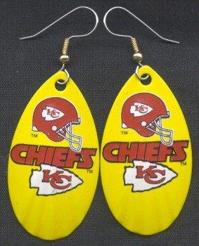 Kansas City Chiefs Ear Rings