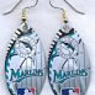 Florida Marlins Ear Rings