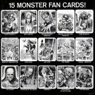 Dracula's Greatest Hits 15 Monster Fan Cards VERY RARE!!