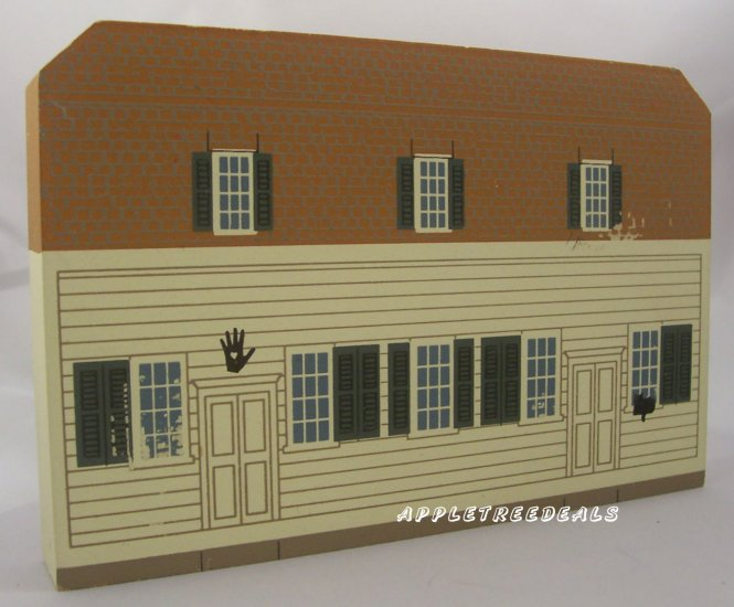 CAT'S MEOW VILLAGE 1995 SHAKER SERIES MEETING HOUSE NEW