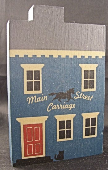 THE CAT'S MEOW VILLAGE 1985 MAIN STREET CARRIAGE HOUSE