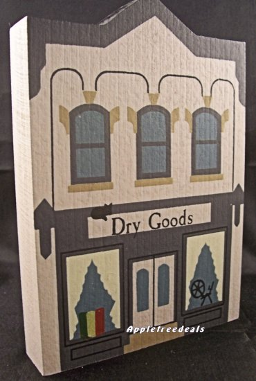 THE CAT'S MEOW VILLAGE 1985 SERIES III DRY GOODS STORE